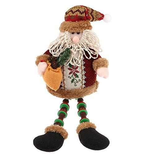 Tenrany Home Felpa Muñecas de Navidad Decoración, 1Pc Papá Noel Colgantes Juguete para Decoración Table Fiesta Arbol de Navidad Adornos(Large B)