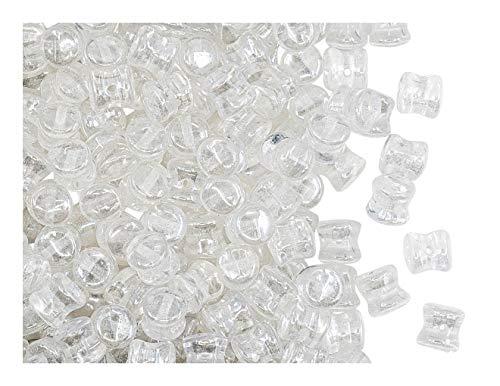 PRECIOSA 50 PCS Perline Pellet 4x6 mm, Cristallo Lucido, Vetro Ceco