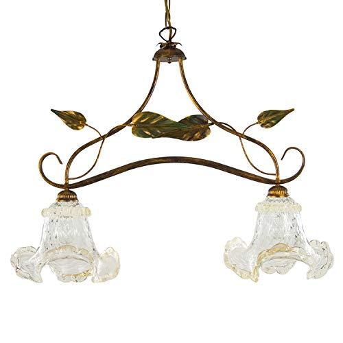 Lampadario moderno in vetro di Murano color Bianco. Adatto a tutti gli ambienit, 9 luci E14. Pratico e facile da tenere