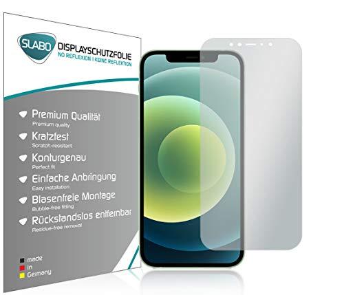 Slabo 4 x Displayschutzfolie für iPhone 12 | iPhone 12 Pro Displayfolie Schutzfolie Folie Zubehör No Reflexion MATT