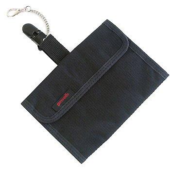 スマートポケット (ズボンにつける隠しポケット) ヨコ型 脱落防止クリップ付き 126