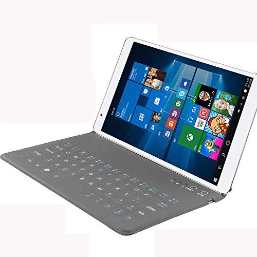 drolpt Conveniente funda de teclado ultra delgada inalámbrica Bluetooth para Samsung Galaxy Tab S2 T715c 8 Tablet Stand para Samsung Tab S2 T715c (color gris, tamaño: Tab S2 T715)