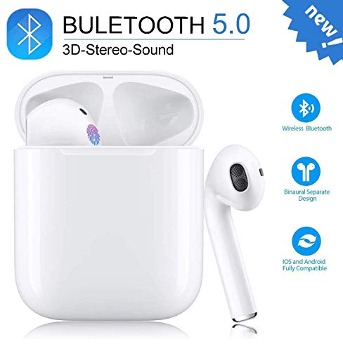 Bluetooth Kopfhörer In-Ear-Ohrhörer Sport-Headset (24-Stunden-Spielzeit) Pop-ups Auto Pairing-Headset Geeignet für Apple/Airpods/Android/iPhone/Samsung/Airpods Pro