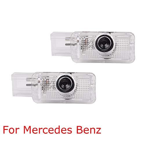 Autotür Laserlampen Led Dekor Willkommenslicht Für Mercedes Benz R Gl Ml M Klasse X164 W251 W164 4matic Ml300 Ml500 R300 R320-2stk Weizenohren - blau