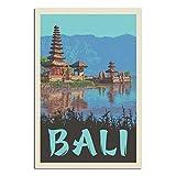Vintage-Reise-Poster Bali, Leinwand-Kunstdruck, Bild,