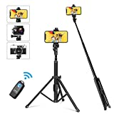 YOHOOLYO Selfie Stick Tripod with Wireless Bluetooth Remote Control Universal Clip for Cell