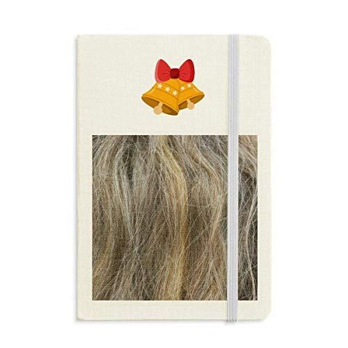 Notizbuch mit Glöckchen, gelockt, langhaarig, Braun