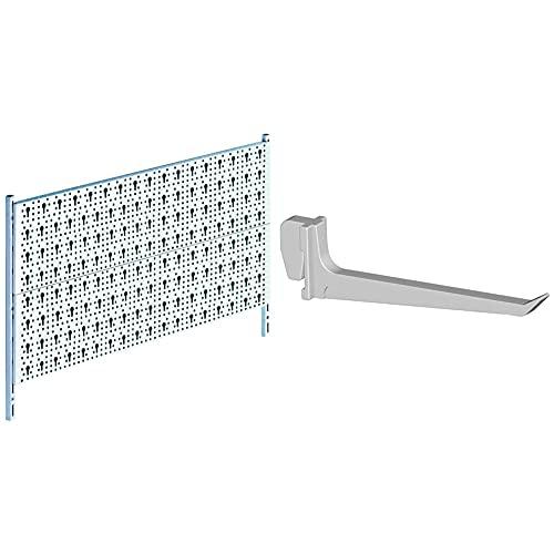 Element System Panel para herramientas de metal juego básico de bricolaje que incluye tornillos y tacos, panel perforado + 11409-00003 Gancho para tableros con agujeros, 7.5cm