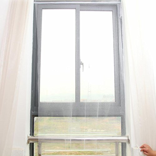 Hunpta Details Moustiquaire pour 2 fenêtres environ, filet en maille pour éloigner les mouches, guêpes, moustiques