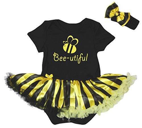 Petitebelle - Body - Bébé (Fille) 0 à 24 Mois Noir Noir, Jaune - Noir - M