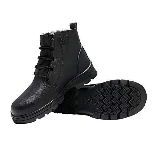Men's shoes Dama Masculina Botas de Trabajo de Seguridad de Caña Alta,Cuero Impermeable Zapatos con Punta de Acero,Calzado de Construcción Industrial Antideslizante Y A Prueba de Pinchazos
