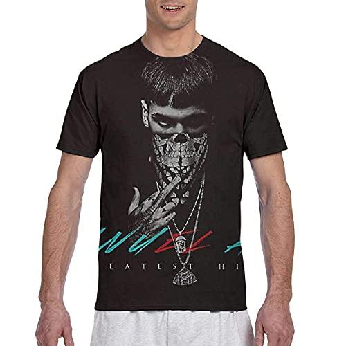 KSSChr Camiseta Hort Leeve de Cuello Redondo para Hombre Anuel AA Greatest Hits Jersey de Moda de Todo fósforo
