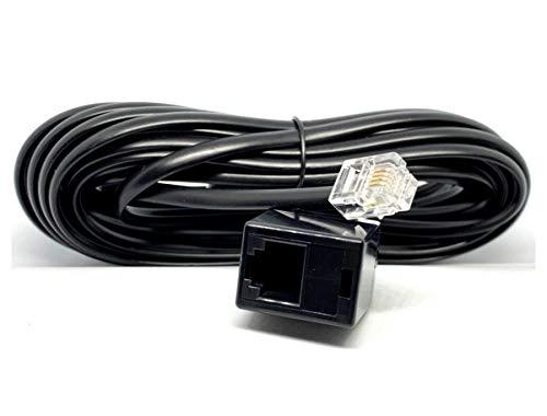 MainCore RJ11 auf RJ11 Verlängerungskabel für ADSL, High-Speed-Internet-Breitband-Modem, Router, Telefon, BT-Kabel/Stecker zu Buchse 5m Schwarz