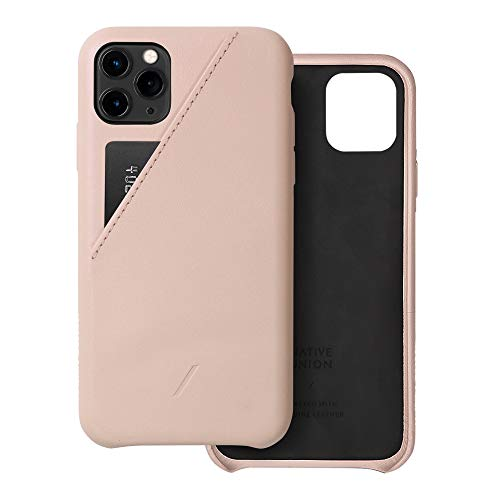 Native Union Funda con Tarjetero Clic para iPhone 11 Pro MAX - Funda de Cuero con Tarjetero – Compatible con iPhone 11 Pro MAX (Nude)