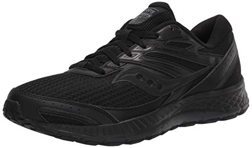 Saucony mens Cohesion 13 Walking Shoe, Black/Black, 10.5 US