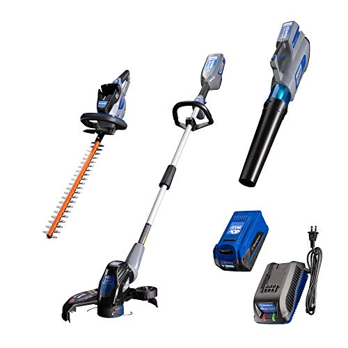 Cheapest Prices! Westinghouse 40V Cordless Hedge, String Trimmer and Blower, 2.0 Ah Battery and Char...