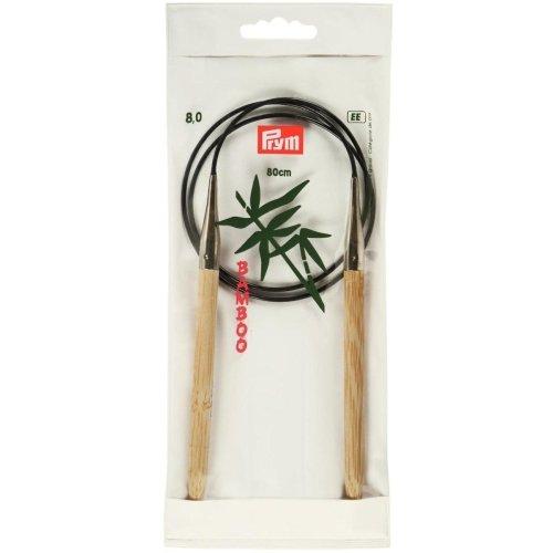 Prym Rundstricknadel Bambus Länge 80 cm Stärke 8,0 mm
