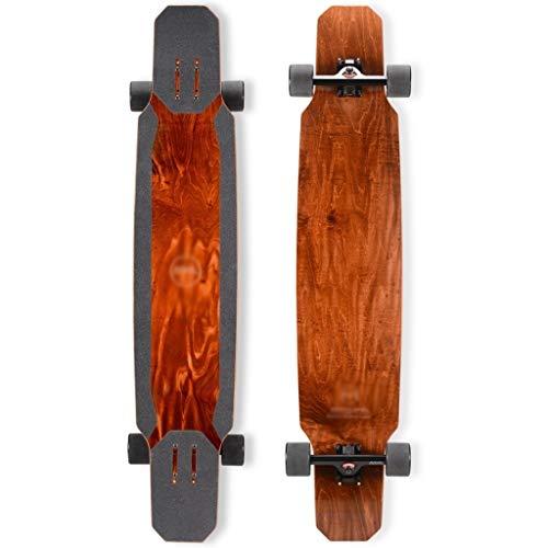ZXC Home Planche à roulettes for Sports de Plein air, Professionnel Longboard Skateboard Débutant Danse Danse Road Board Skateboard 46,5 Pouces, 6 Couleurs en Option (Color : Brown, Size : F1)