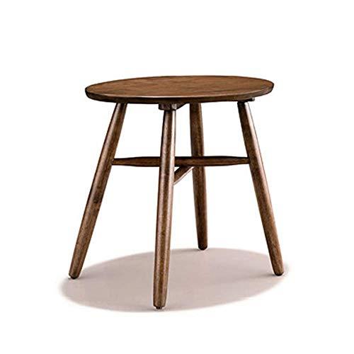 Axdwfd Table d'appoint ronde de sofa de table basse de chêne, parfaite pour la salle de séjour de bar 50 * 55CM (brun)