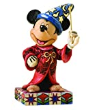 """Disney Traditions by Jim Shore Sorcerer Mickey Personality Pose Stone Resin Figurine, 4.25"""""""