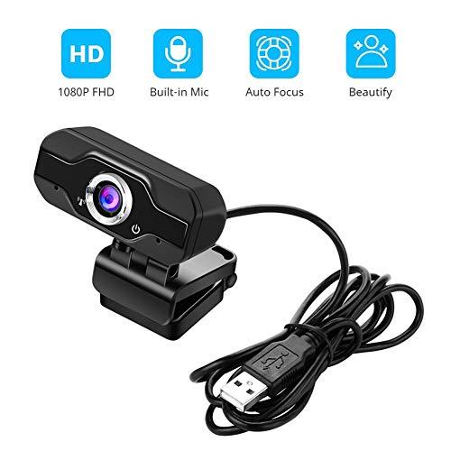 AZCSPFALB Full-HD 1080P USB-Anschluss Webkamera Mit Geräuschunterdrückung, Live Broadcast Kamera Mit Drehbarem Clip, Mini Webcam, PC Laptop Desktop Webkamera, USB-Kamera Videoaufnahme