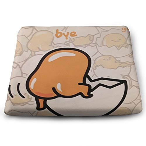 Roupaze Solid Square Seat Cushion Gudetama Chair Cushion Tatami Floor Cushion,Used for Meditation in Living Room Balcony Office Outdoor