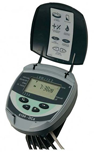GALCON - Programador autónomo GALCON 61043 DC-4N digital, 2 vías, de 3 alambres, alimentación 2 pilas 9V. Sin electroválvula