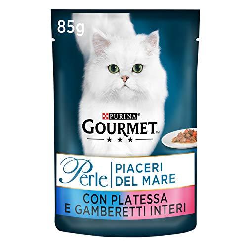 Gourmet Purina Perle Humide Chat plaisirs du mer avec Plie et crevettes Entiers – 24 Pochettes de chacune 85 g (Pack de 24 x 85 g)