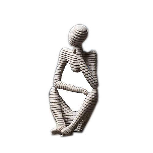 GPWDSN Adornos de estatuas para el hogar Decoración del hogar Sala de Estar Oficina Piedra Arenisca Figura Abstracta Adornos Decorativos, Decoración de jardín