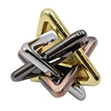Tongina IQ Test Toy Disentanglement Puzzles Toy IQ Test Metal Brain Teaser Puzzles Brain Teasers Metal Puzzle Locks - Triangle