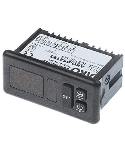 Regulador electrónico Ako tipo Ako-D14123. Dimensiones de montaje: 71 x 29 mm. Alimentación: 230 V. Chiskoit 620539.