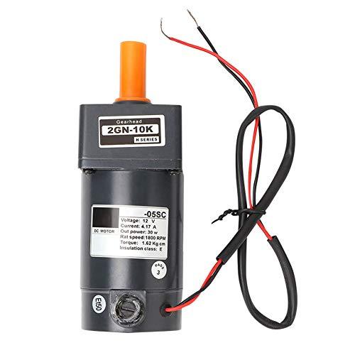 Motorreductor, motor reductor de engranaje eléctrico 12V 30W 1800RPM, eje de 8 mm, velocidad 1800RPM, para coche de juguete inteligente, robot, impresora