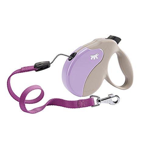 Ferplast AMIGO CORD S uittrekbare hondenriem, 5 m, max. 15 kg, paars, beige-violet