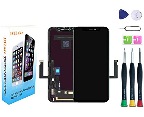 DTLake Premium Screen Replacement Compatible with iPhone 11, Screen Replacement iPhone 11 (6.1 inch)(Model A2111, A2223, A2221) Touch Screen Display digitizer Repair kit Assembly