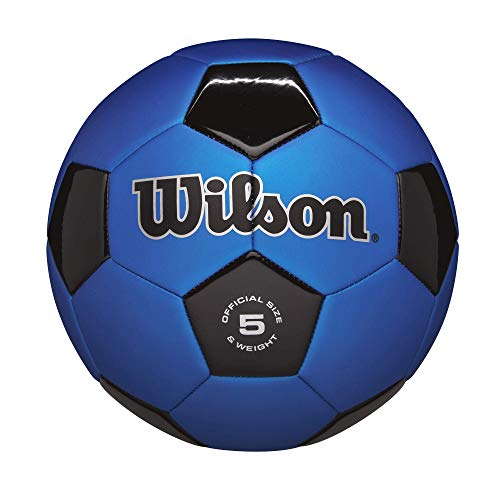 Wilson Traditional Soccer Ball - Blue/Black, Size 3