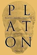 Platon - Oeuvres complètes de Luc Brisson