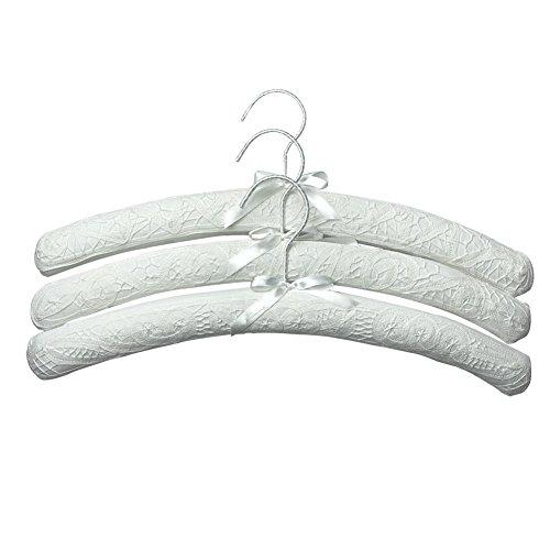 SwirlColor Kleiderbügel Baumwolle, Kleiderbügel für Kleiderschrank Hause- Weiß (3 Stück)