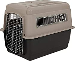 airline approved XL ultra vari plastic dog crate in taupe/black by petmate