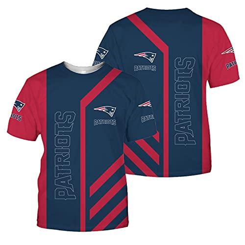 2021 Rugby Jersey Fan T-Shirts New Orleans Saints New England Patriots Minnesota Vikings Hombres Deportes Secado Rápido De Manga Corta Fútbol Americano Jerseys, Lavable A Máquina,Azul,XXXXXL