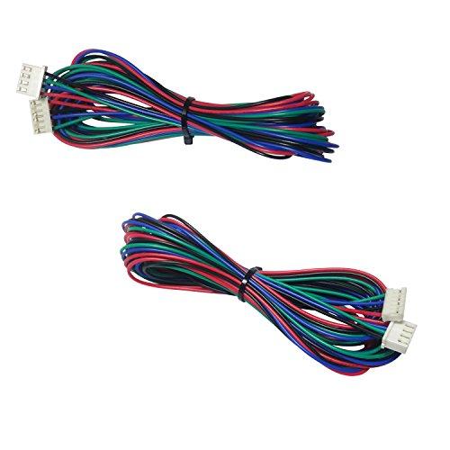 SoundOriginal 2pcs M6 3D Printer Stepper Motor Cable Lead Wire HX2.54 4 pin to 6 pin 1.5M 59 inch
