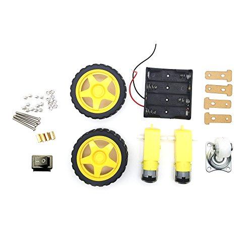 Preisvergleich Produktbild AptoFun 2WD Motor Smart Car Chassis für Arduino- mit 2 Getriebemotor und Batteriebox