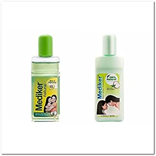 COMBO Natural Coconut Based Mediker Anti Lice Treatment 50ml Shampoo 50ml Oil