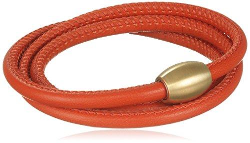 Xen Damen-Armband 3 Fach gewickelt Edelstahl teilvergoldet Leder 59.0 cm - 51603437G2