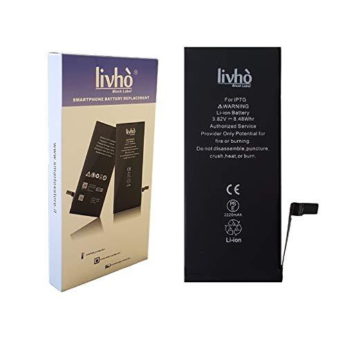 livhò® Black Label Baterìa Alta Capacidad Compatible con iPhone 7/2280 mAh