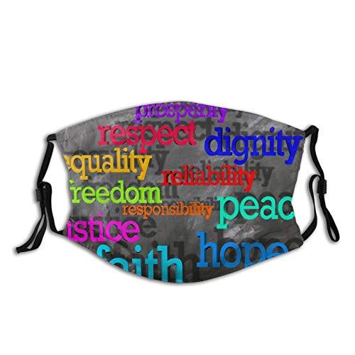 Máscara facial reutilizable y lavable, suave, transpirable, ajustable, 100% fibra de poliéster para adultos, Tablero Negro, Talla única