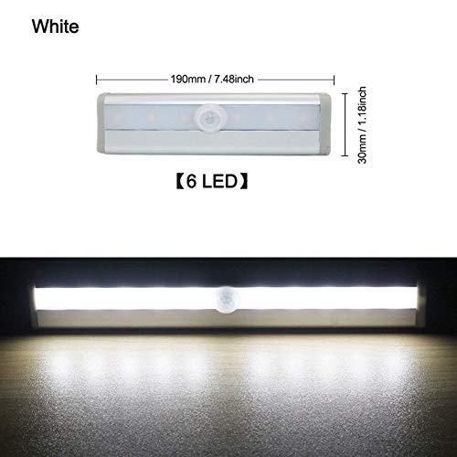 GZSC 6/10 LEDs PIR LED Motion Sensor Licht Kast Kledingkast Bed Lamp LED Onder Kast Nachtlampje Voor Closet Trappen Keuken