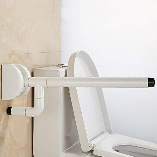 JMUNG Handlauf, Toilette Anti-Rutsch-Schiene Haltegriff Bad Behinderte ältere Menschen Handläufe WC-Geländer Für Behinderte Ältere Menschen,Weiß