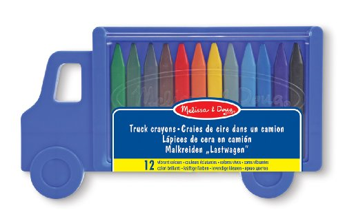 Melissa & Doug Truck Crayon Set - 12 Colours