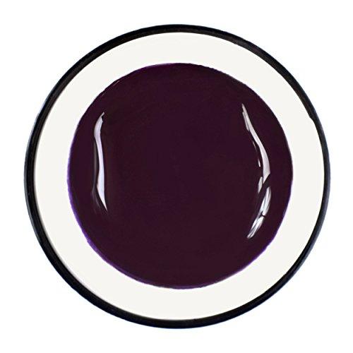 Gel UV de couleur pure aubergine violet - Haut pouvoir couvrant - 5 ml - Fabriqué en Allemagne