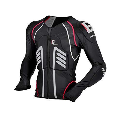 EISHC Protektorenjacke Motorrad Schutzjacke Hemd 7 Stück elastische Schutzrüstung Nylon Lycra Stoff für Motocross Quad Ski Snowboard,L